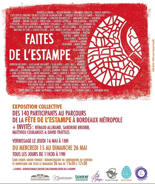 Laure Joyeux-Exposition-Manifestampe-Florence Joutel-Galerie 5F-Espace Saint Rémi--Bordeaux-Art-Art contemporain-France-