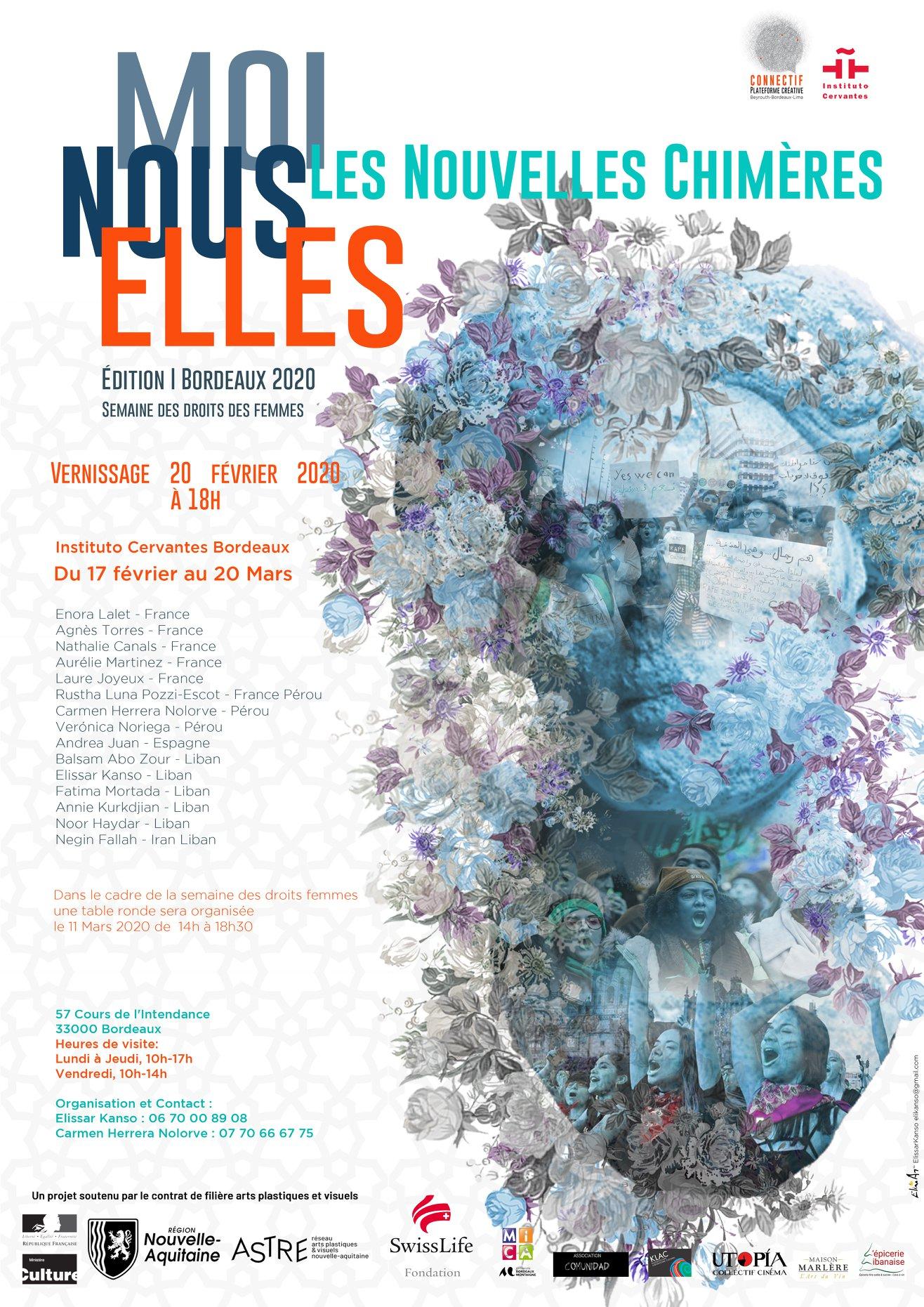 Laure Joyeux-artiste-Exposition-Moi Nous Elles-Institut Cervantès-Bordeaux-France-Elissar Kanso-Connectif Plateforme Créative